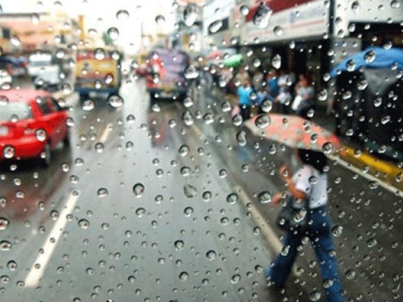 Gotas de lluvia en espejo