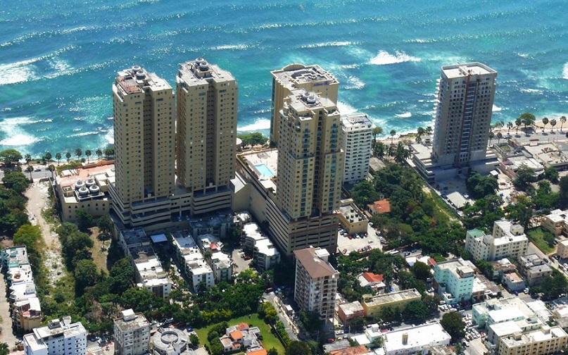 Panorámica de edificaciones en el Distrito Nacional.