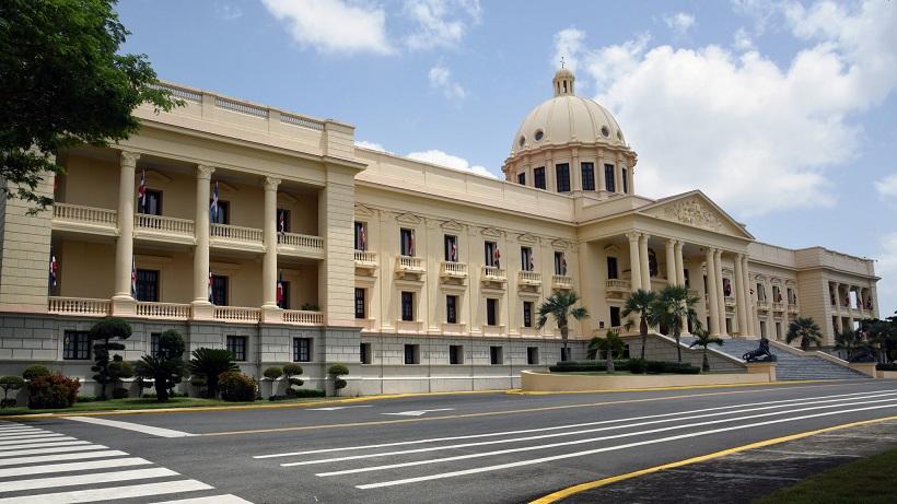 Vista lateral del Palacio Nacional.