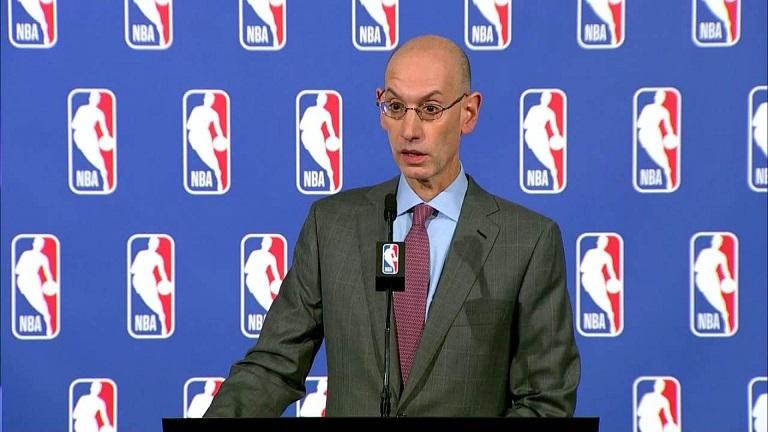 Adam Silver comisionado de la NBA. (Foto: externa)