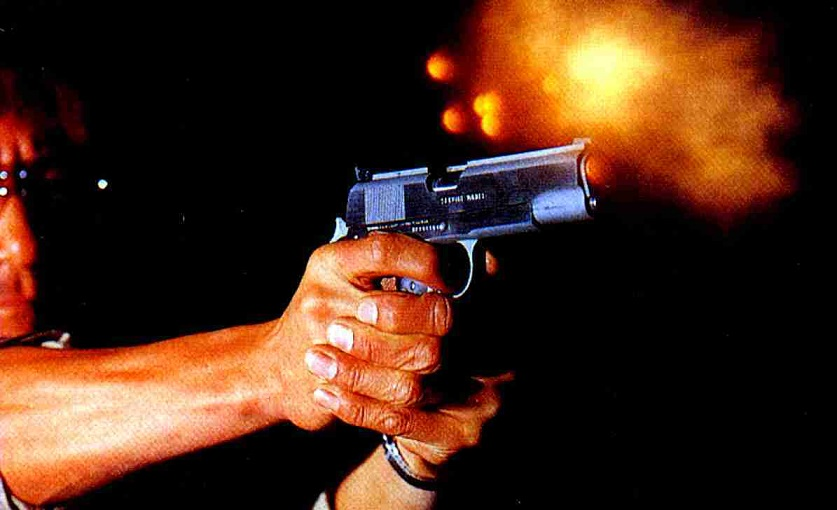 Disparos de pistola acciona.