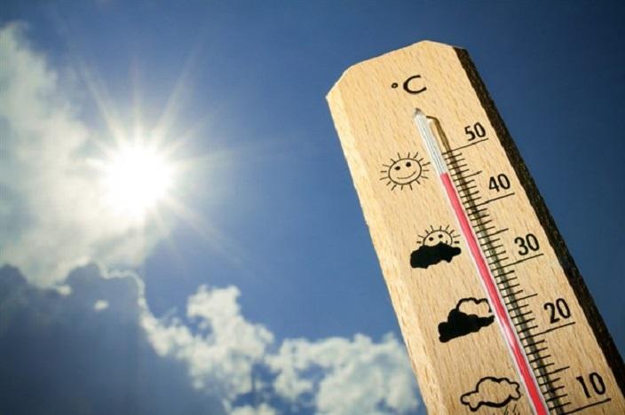 Registro de temperaturas calurosas.