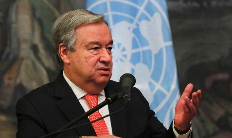 António Guterres, secretario general de la ONU.