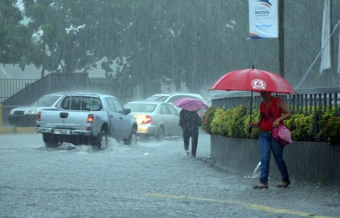 Lluvias registradas en el país.