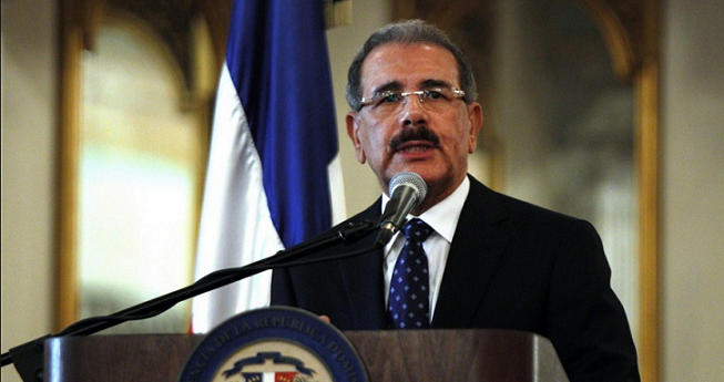 Presidente Danilo Medina habla en Palacio Nacional.