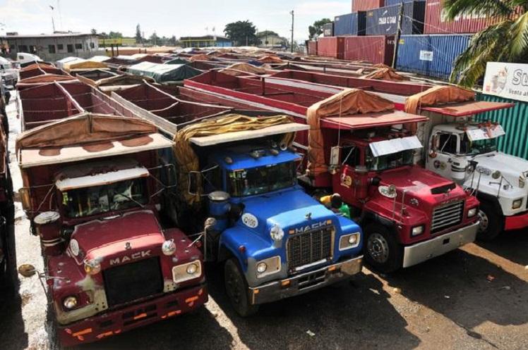 Camiones de FENATRADO inmovilizados