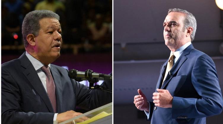 Luis Abinader y Leonel Fernández, aspirantes presidencia.