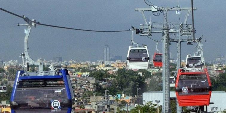 Teleférico Santo Domingo, transporta pasajeros.