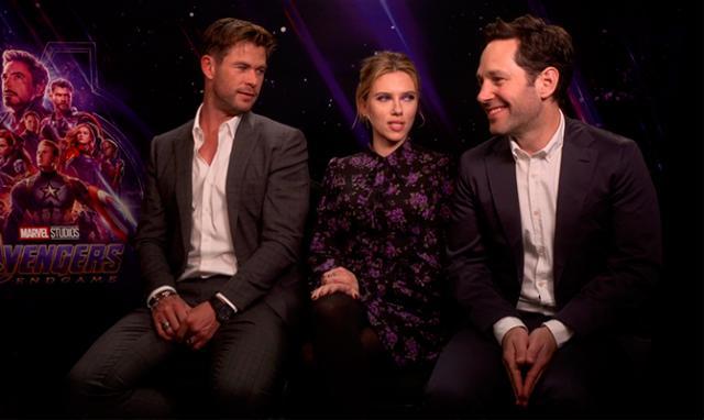 Chris Hemsworth, Scarlett Johansson y Paul Rudd.