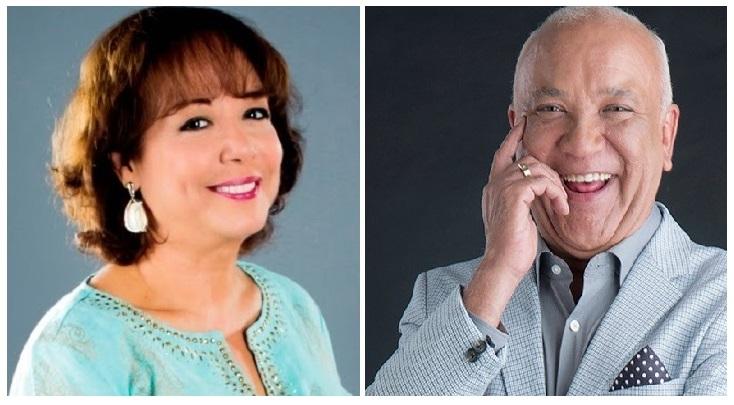 Locutores Julie Carlo y Jochy Santos.