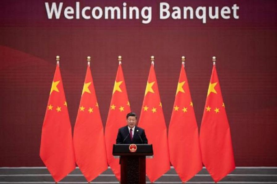 Presidente chino Xi Jinping, pronuncia un discurso en bienvenida del II Foro de la Franja y la Ruta.