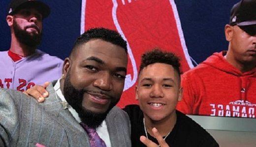 David Ortiz y su hijo D´Angelo Ortiz