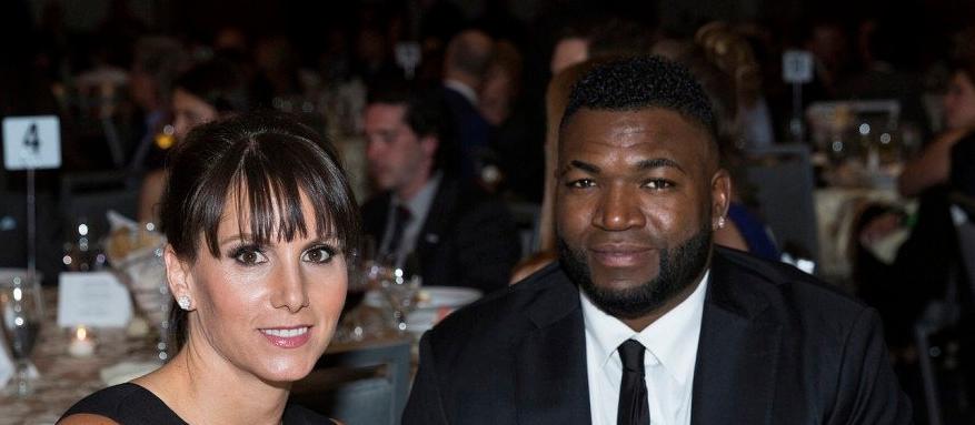 David Ortiz y su esposa Tiffany.