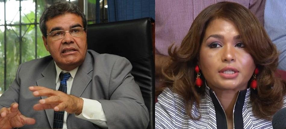 Senén Caba exdirector CMD y Yokasta Lara presidente Movimiento Tejada Florentino.
