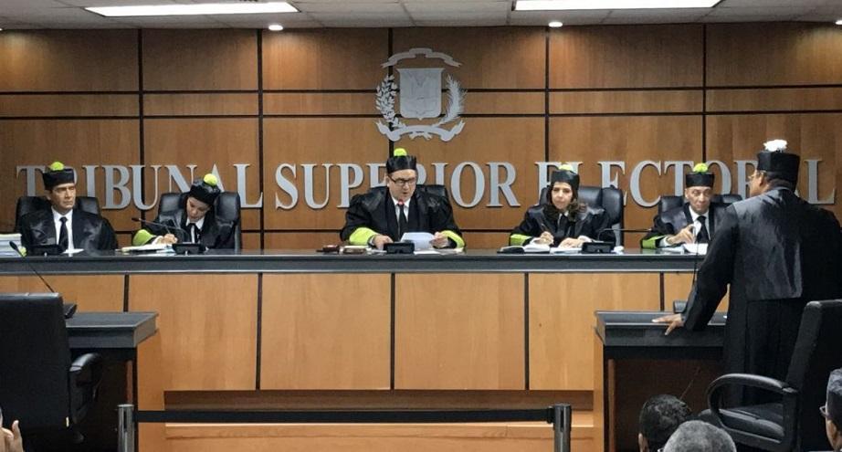 Miembros del Tribunal Superior Electoral (TSE) de República Dominicana.