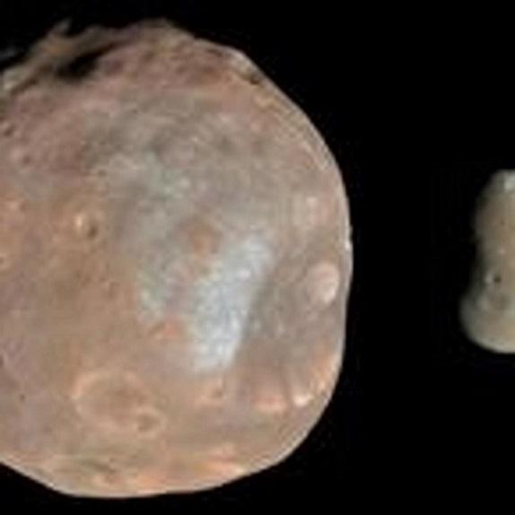 La luna Fobos, satélite de Marte.