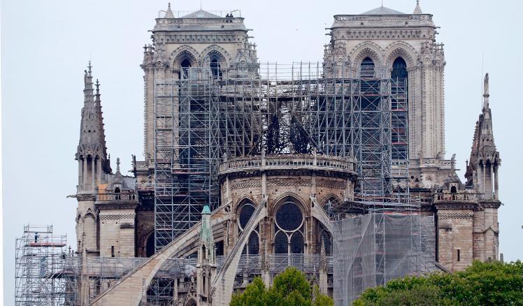 Reparación catedral de Notre Dame.