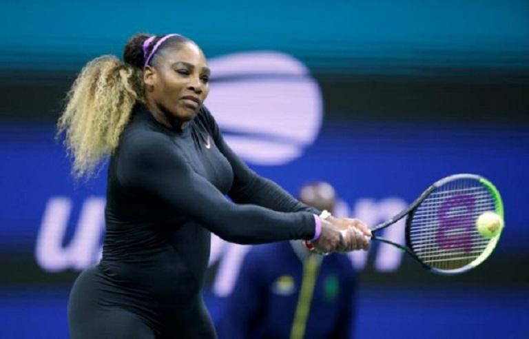 Serena Williams en su exitoso debut en el US Open.