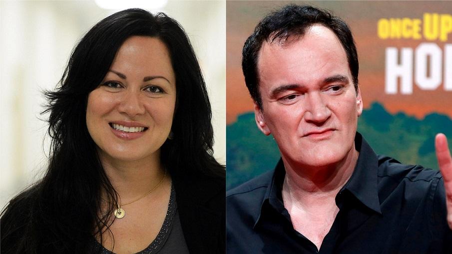 Shannon Lee y Quentin Tarantino.