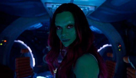 Zoe Saldana en Guardianes de la Galaxia Vol. 2 (Foto Marvel/Disney)