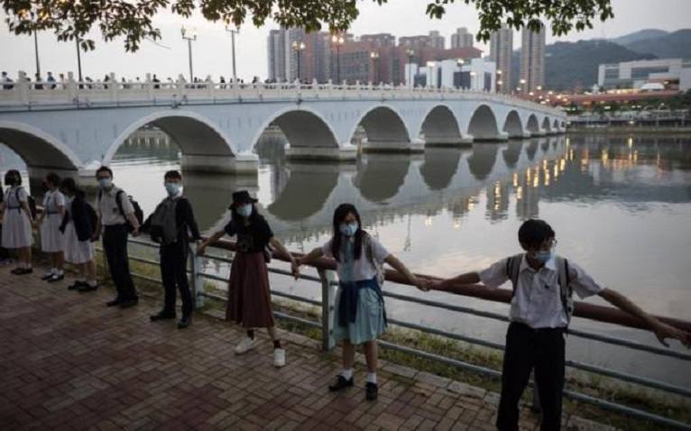 China exige a EE.UU. que deje de interferir en los asuntos de Hong Kong. (Foto EFE)