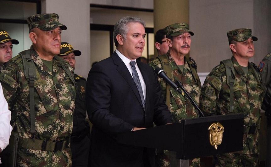 Ivan Duque anuncia muerte de disidente de las FARC.