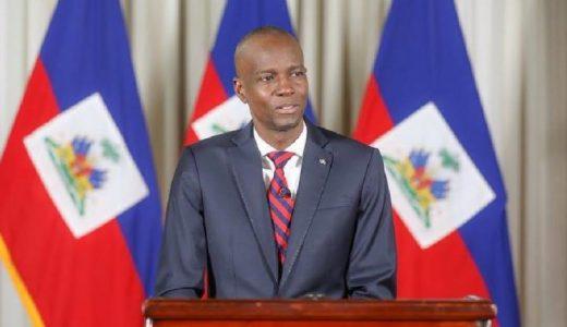 Presidente haitiano Jovenel Moïse pronuncia discursos en medio de protesta.