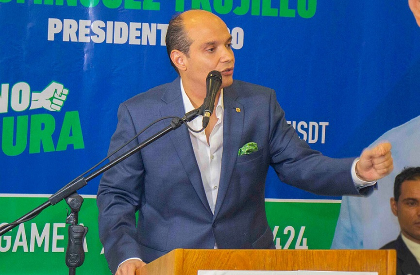 Ramfis Trujillo anuncia partido apoya su candidatura.