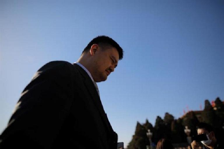 El exjugador de la NBA y presidente de la Federación de Baloncesto de China, Yao Ming. (Foto EFE/Wu Hong)