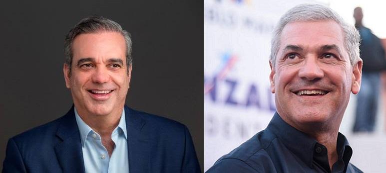 Luis Abinader y Gonzalo Castillo candidatos presidenciales.