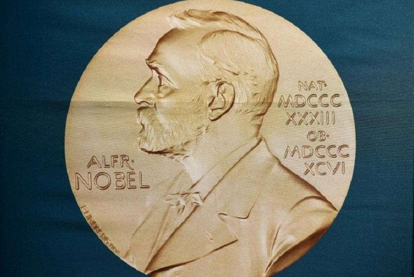 Imagen del inventor sueco Alfred Nobel, expuesta en el Foro Nobel de Estocolmo el 1 de octubre de 2018. (Foto: AFP)