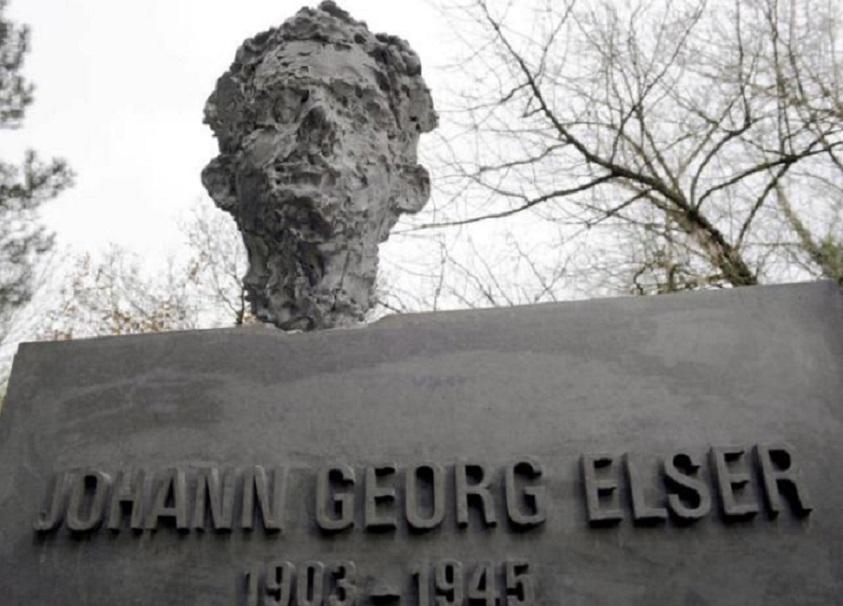 Escultura del alemán ideólogo del fallido atentado contra Adolf Hitler en 1939, Johann Georg Elser, en Constanza, Alemania. (Foto: EFE/Patrick Seeger)