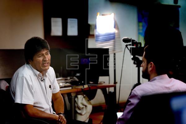 Expresidente de Bolivia en entrevista con la Agencia EFE.(Foto EFE)