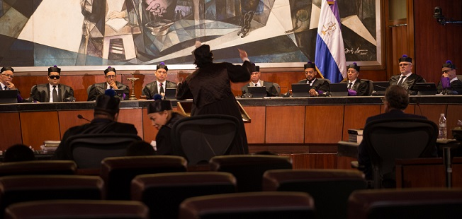 El Pleno de la Suprema Corte de Justicia.(Foto externa)