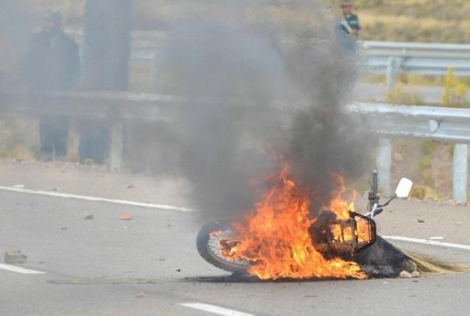 Manifestaciones en contra del presidente bolivariano Evp Morales.(Foto externa)
