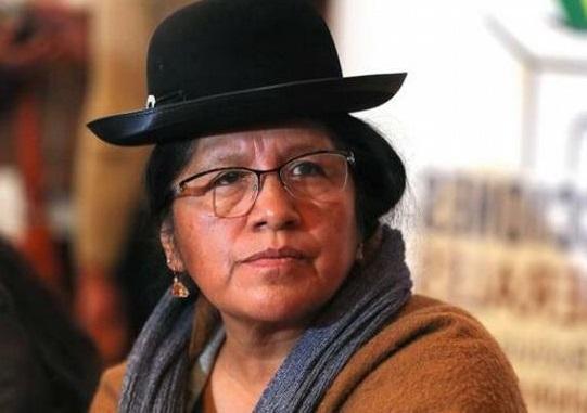 María Eugenia Choque Quispe presidente del Tribunal Supremo Electoral De Bolivia.(Foto externa)