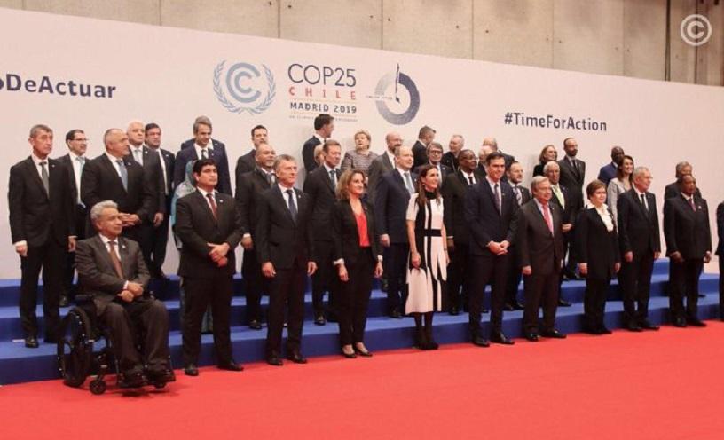 Mandatario y jefes de Estados participantes en la Conferencia de las Partes (COP25). (Foto: externa)