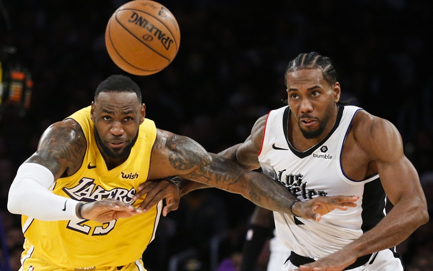 Lakers y Clippers juego de Navidad.