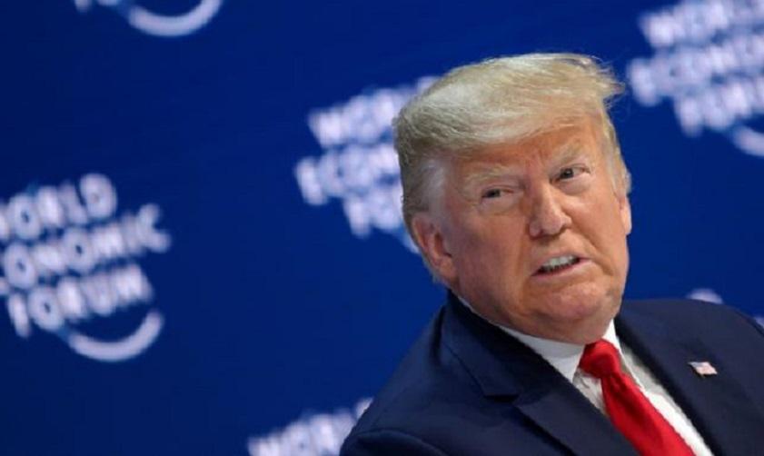El presidente de Estados Unidos, Donald Trump, durante el Foro Económico de Davos, en Suiza. (Foto: AFP)