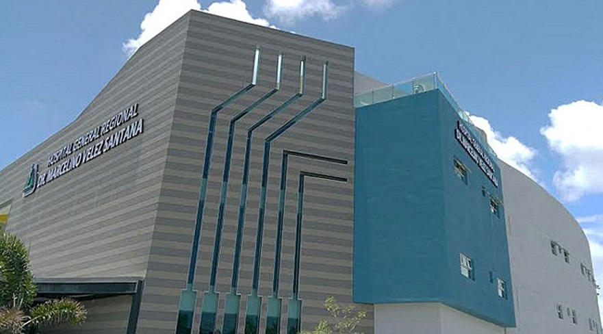 Fachada del Hospital Marcelino Vélez Santana.
