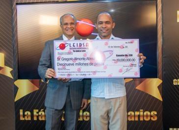 Gregorio Almonte Abreu nuevo millonario de LEIDSA. (Foto: externa)