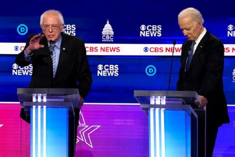 El debate ofrece a Biden y Sanders una oportunidad de salvar la división.