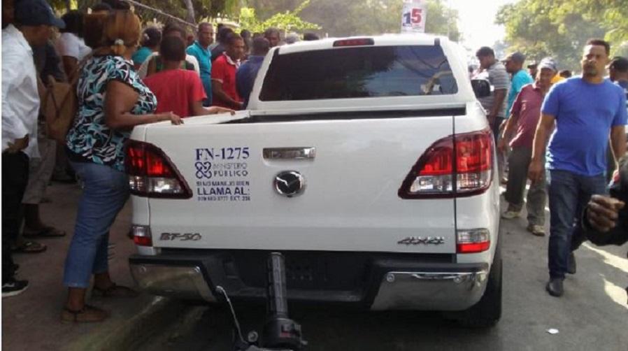 Camioneta accidentada y asignada al procurador en materia de Medio Ambiente de Independencia. (Fuente: externa)