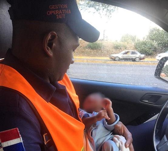 MOPC halla bebé abandonado en Sto.Dgo.