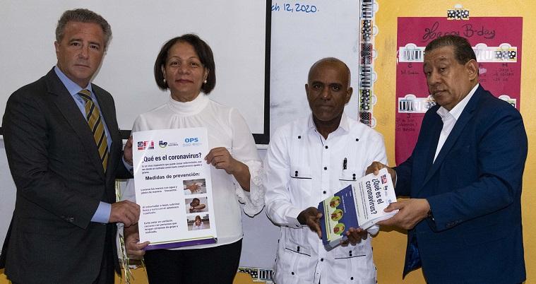 Ministerio de Educación entrega material de prevención sobre el coronavirus a colegios privados. (Foto: externa)