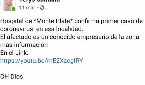 Captura de la publicación hecha por Herrera Santana remitida por la dirección de comunicaciones del SNS