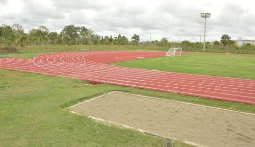 Pista de atletismo en la comunidad de Bayaguana. (Foto: externa)