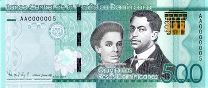 Banco Central pone a circular billete RD$500.00.