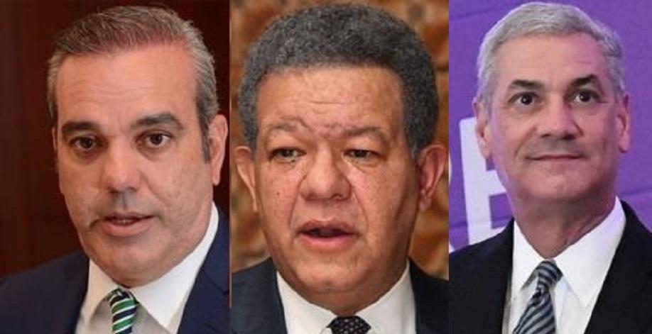 Principales candidatos presidenciales 2020: Luis, Leonel y Gonzalo. (Fuente: externa)