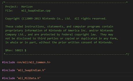 Códigos fuente de Nintendo filtrados en la red.